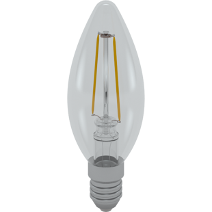 LED Skylighting Candle Filament 2W E14 3000K 330°
